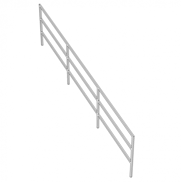 Trapleuning RIBOS- gelakt - staven 30x30