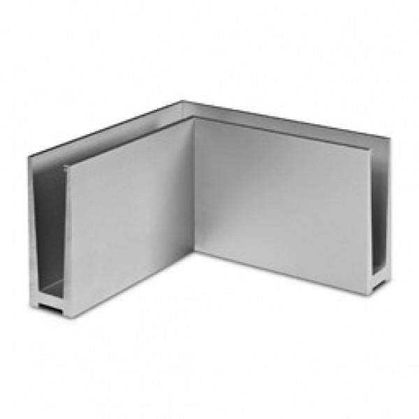 Binnen hoekprofiel Easy-Glass Slim voor topmontage