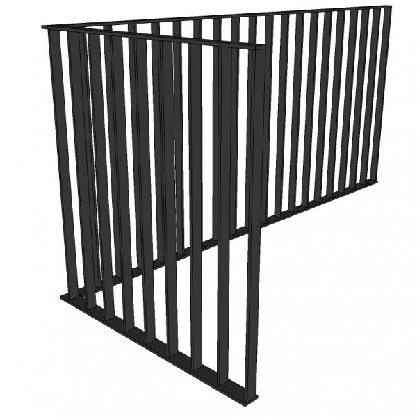 Balustrade RISTI - staal - verticaal