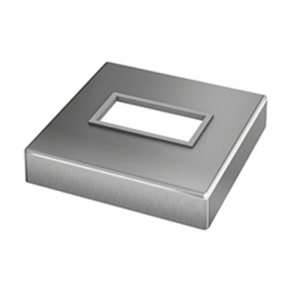 Afdekrozet square line 60x30 topmontage