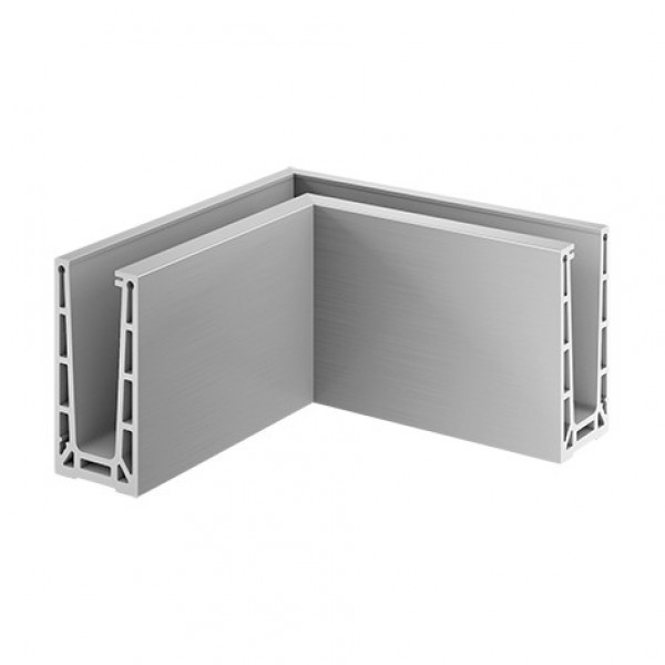Binnen hoekprofiel Easy-Glass Pro voor topmontage