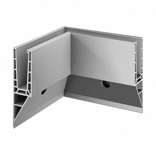 Binnen hoekprofiel Easy-Glass Pro Y voor zijmontage