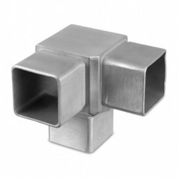 Buisverbinder square line 40x40 hoek