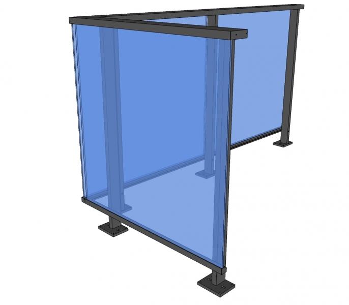 Balustrade GAMBRA - glas - horizontaal
