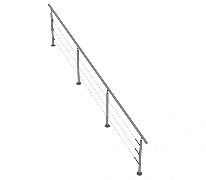 Trapleuning NIRMO - inox - kabels