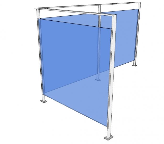 Balustrade PAMIS - gelakt - glas