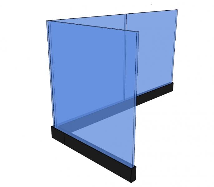 Balustrade PARDA - vrijstaand - glas