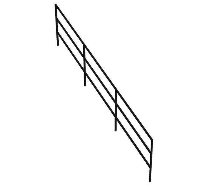 Trapleuning CROLA - staal - staven 10x40