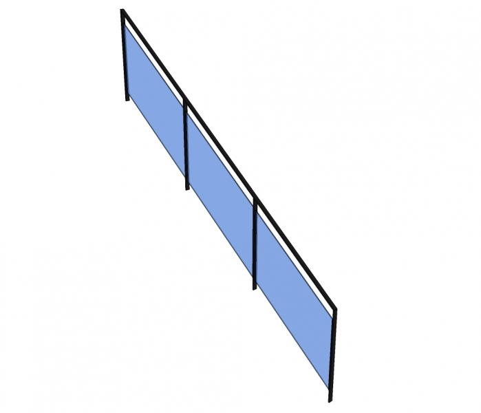 Trapleuning RINI - staal - glas