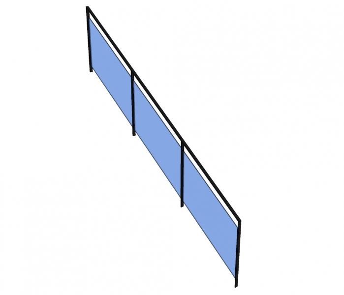 Trapleuning PELKAS - gelakt - glas