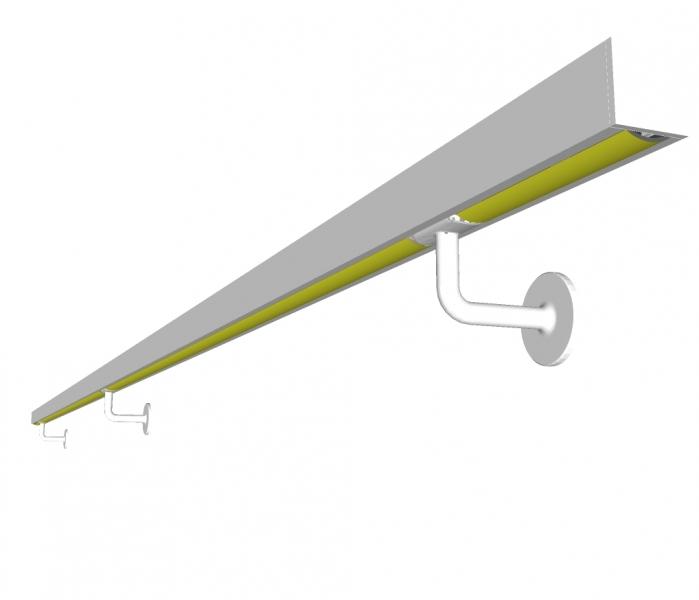 Handgreep PELLA - gelakt - vierkant