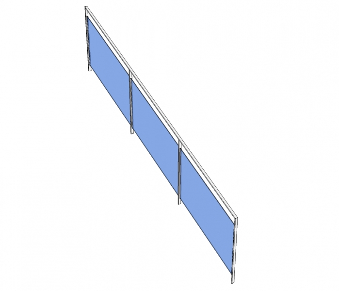 Trapleuning SEVROS - gelakt - glas