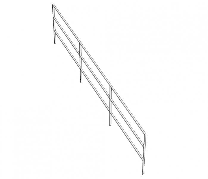 Trapleuning TRALVA - gelakt - staven 10x40