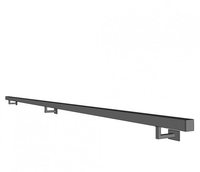 Handgreep TRIMA - inox - 40x40